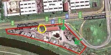 Nájom pozemku v areály Košice – Južné nábrežie